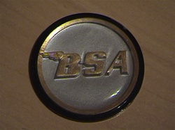BSA  Rocket 3 damper knob badge